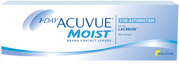 1-DAY ACUVUE® MOIST® for ASTIGMATISM product packshot